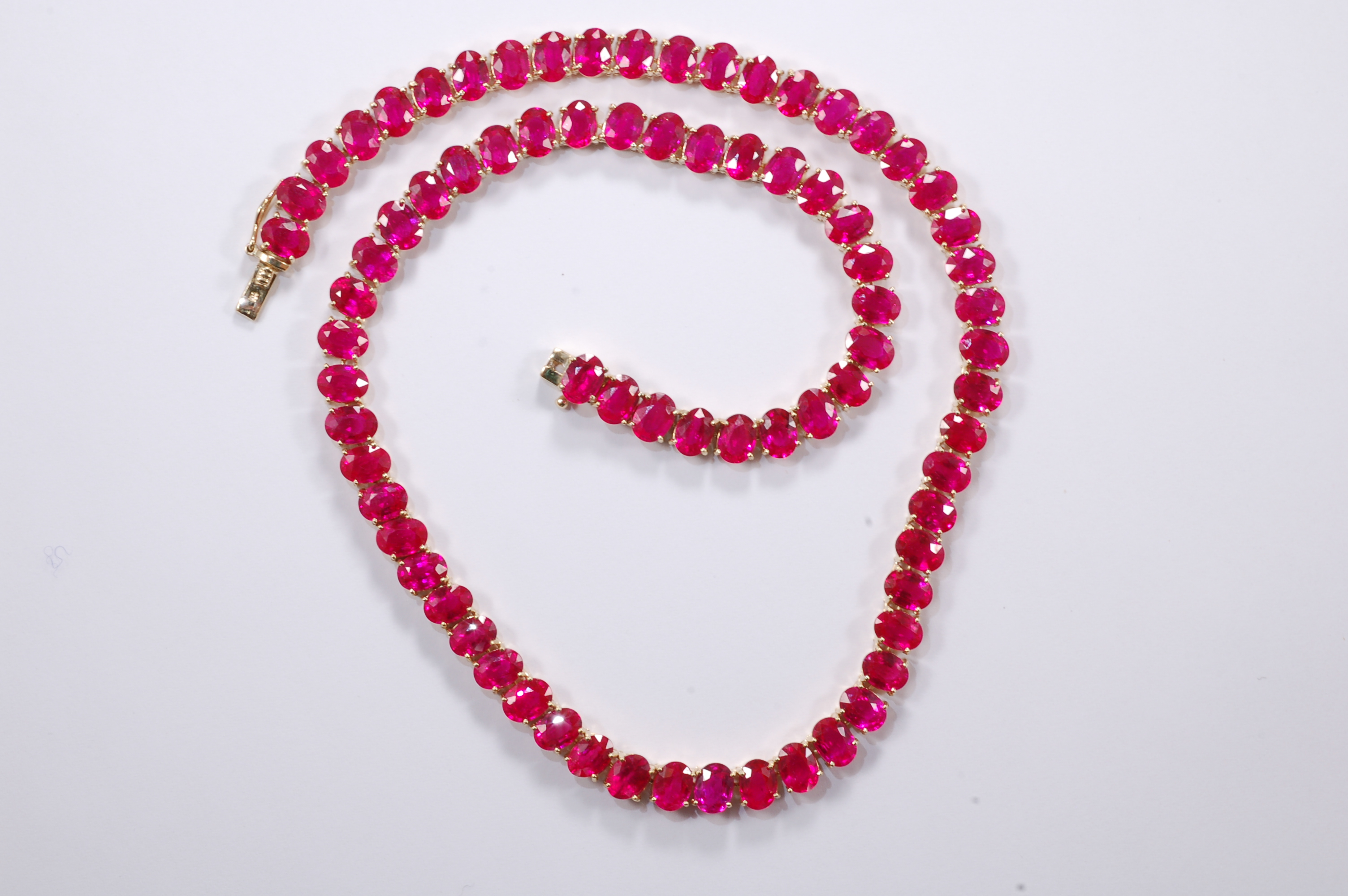 flower ruby jewelry silver necklace product jewellery with s sterling earrings design