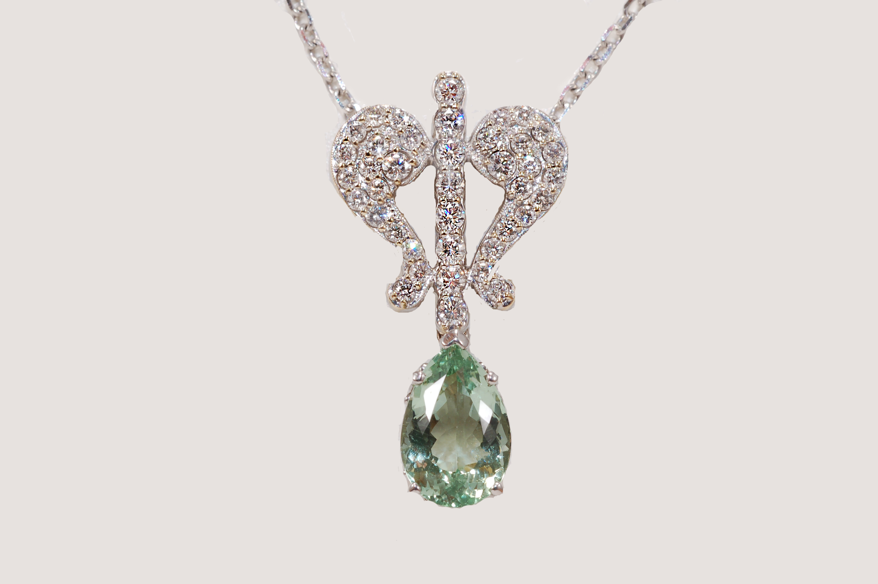 dia pear diamond pendant shaped rg anita ko products