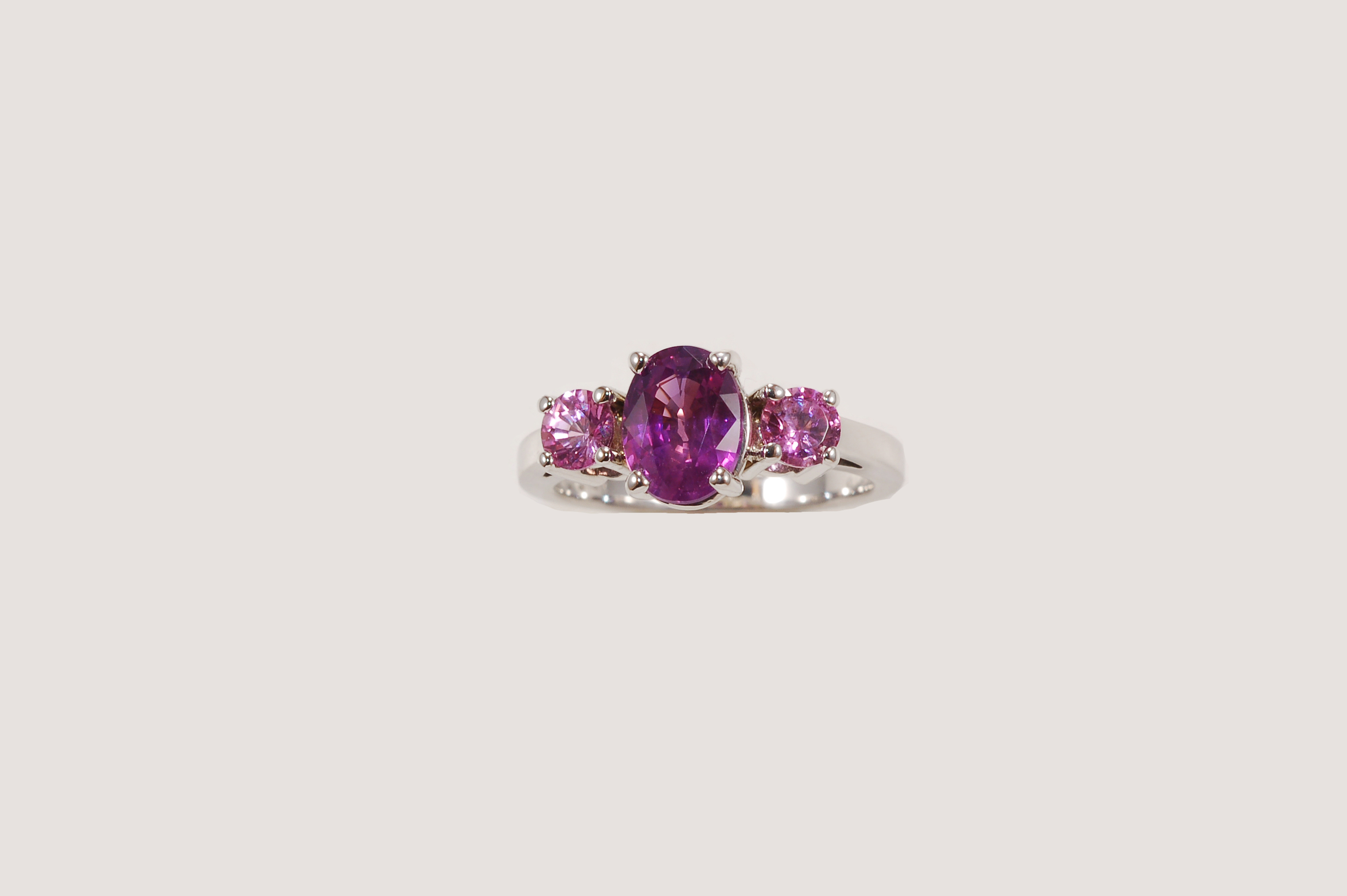 ring in aurora rose gold by products lilac small pink web corey egan sapphire we