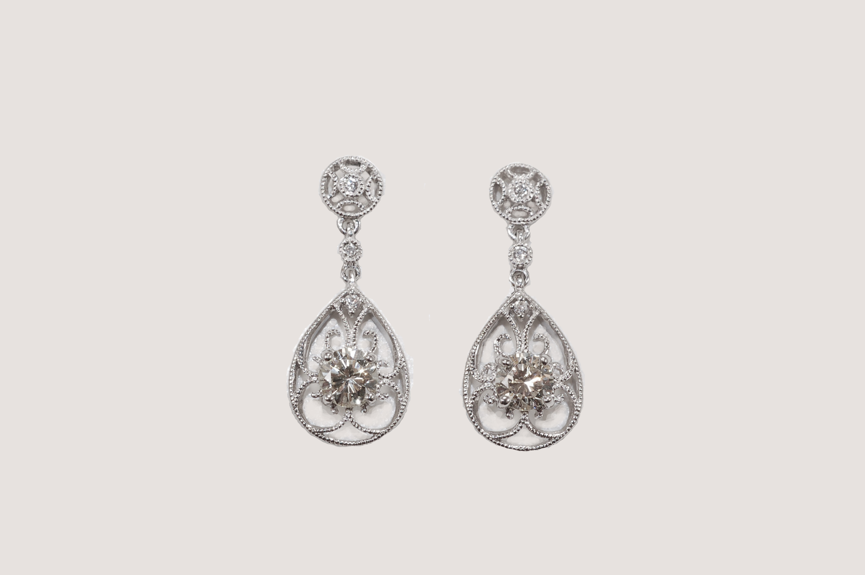 gallery jewelry kunzite lyst white gold earrings in renee lewis