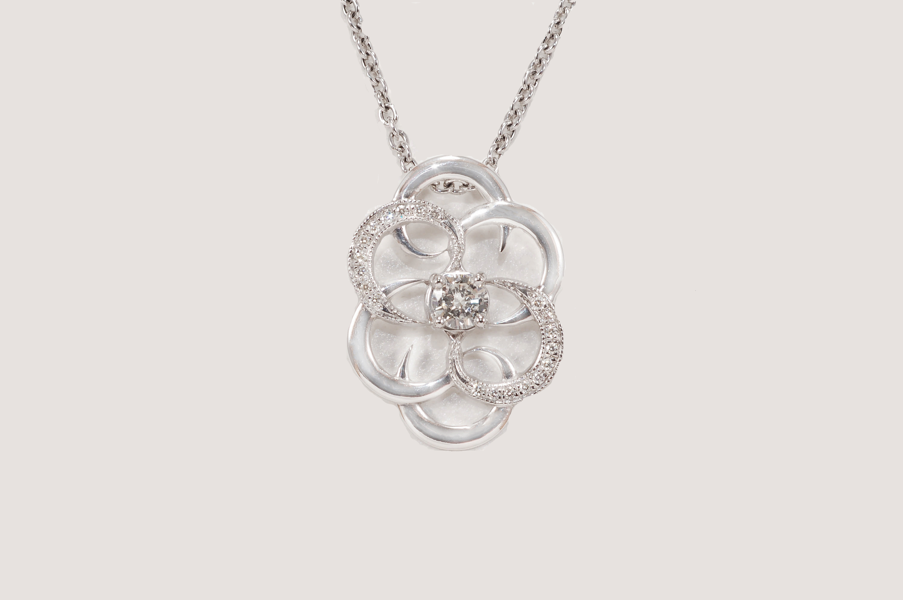 necklace over products shipping tri lotus img free medallion pendant