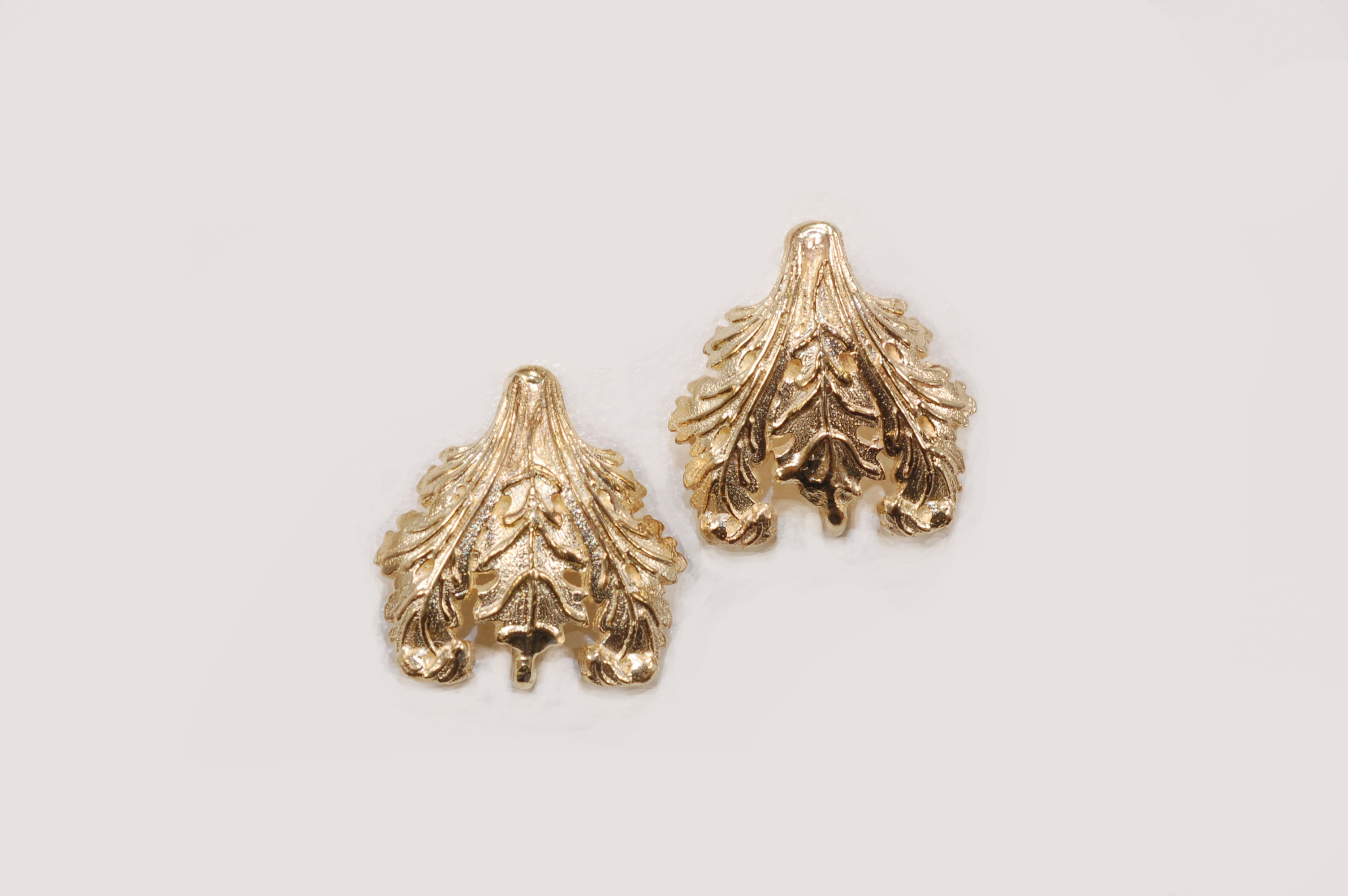 Unlimited Provencal Balcony Yellow Gold Earring Tops – Kas-A-Designs