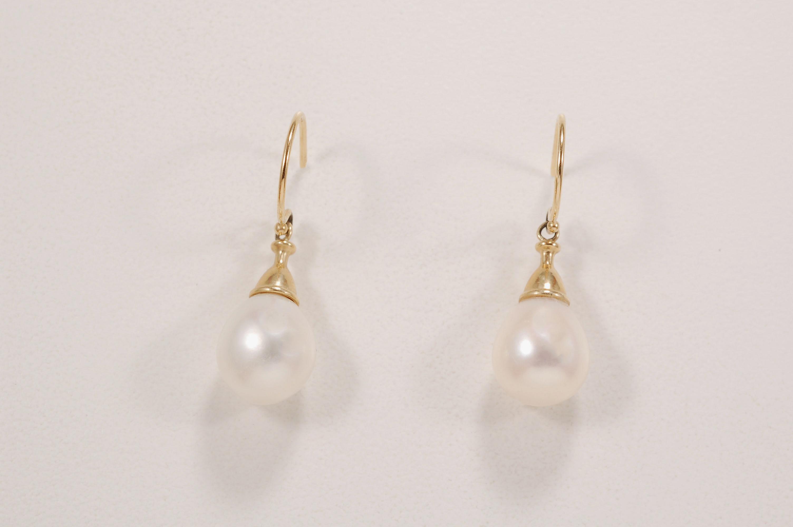 Teardrop Pearl Dangle Earrings
